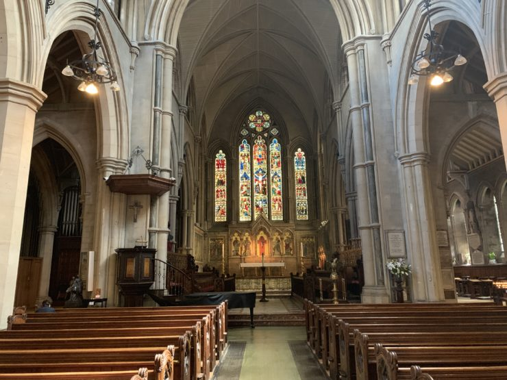 Inside of St. Mary Abbots Church