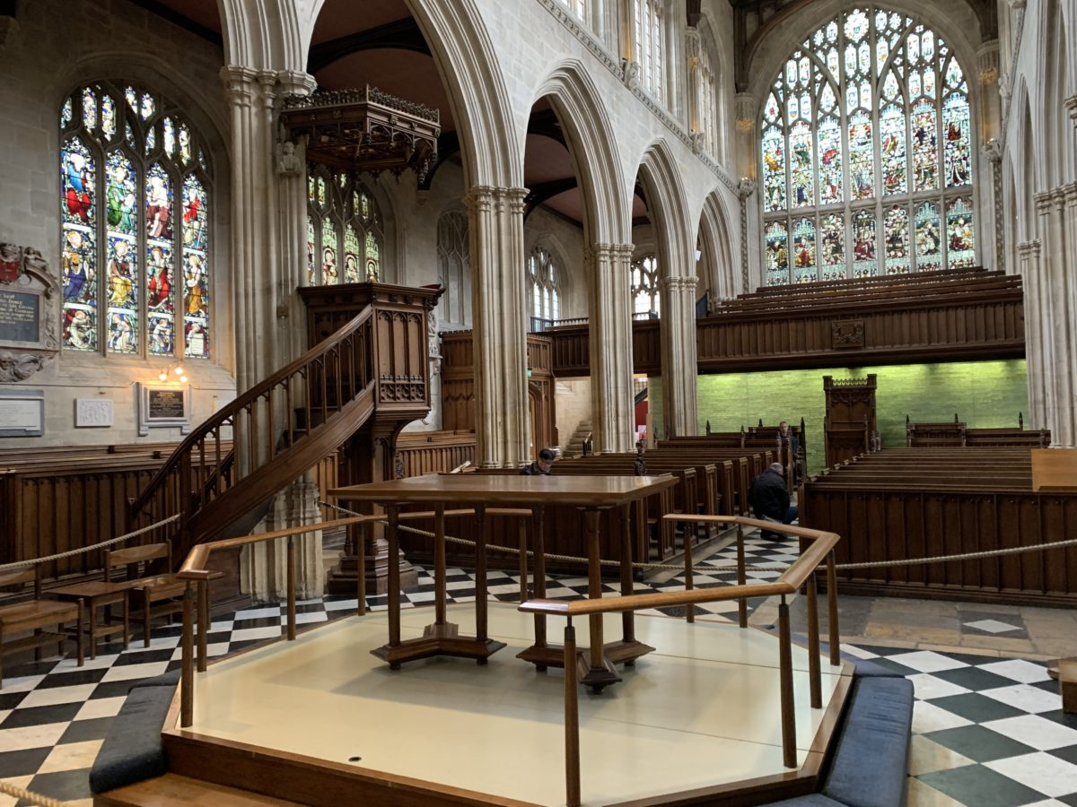 Pulpit where John Henry Newman used to preach as an Anglican chaplain