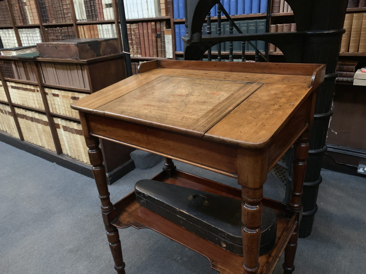 "Desk at which John Henry Newman composed the entire ""Apologia Pro Vita Sua"""