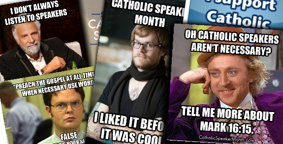 Catholic Speaker Month Badges